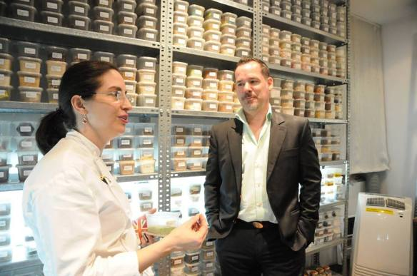 Chef Elena Arzak imparts some knowledge. (Photo by Angela Shah)