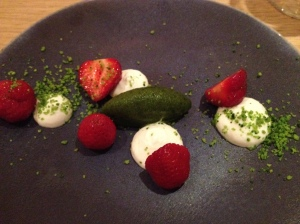You can do a lot with strawberries and goat cheese