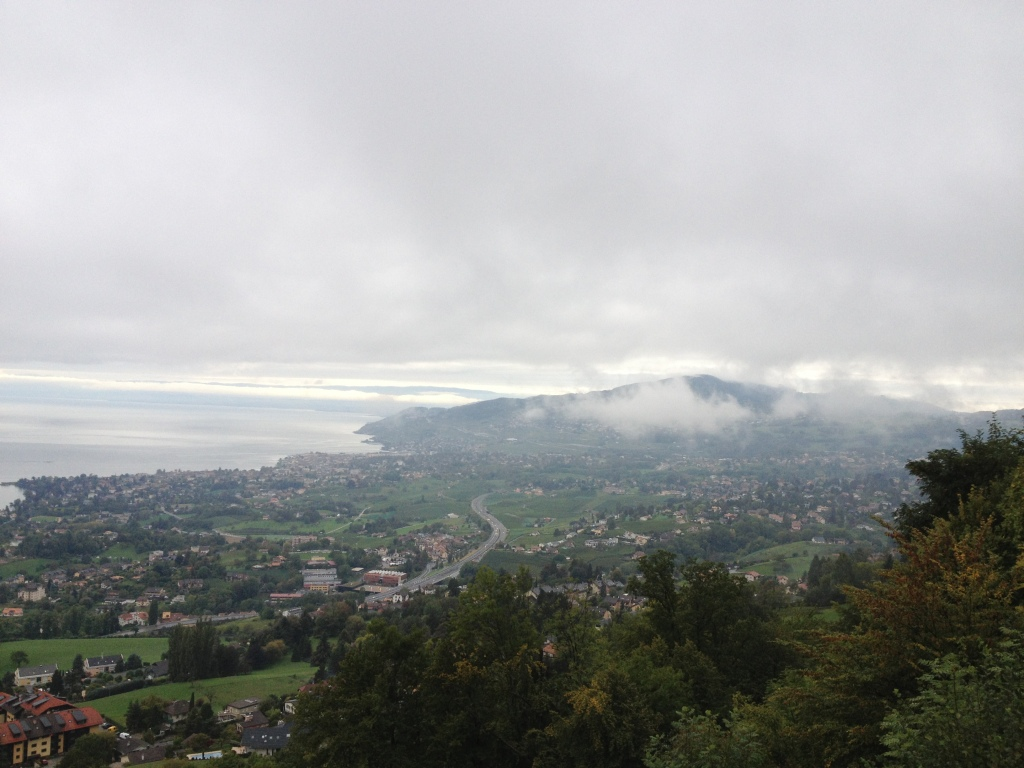 From a hill high above Lake Geneva