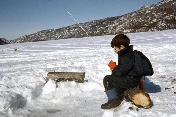 Ice fishing in Alaska