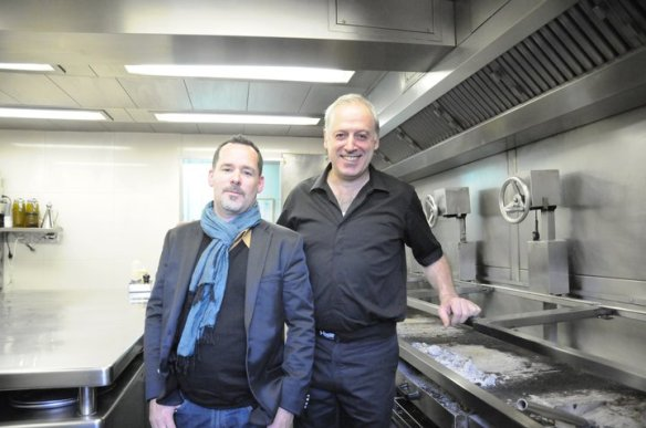 Victor Arguinzoniz and I tour his kitchen.