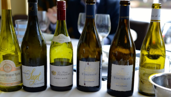 Bottles of 2012 selections from Saget la Perrière command one's attention.