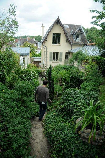 Xavier, the gardener of the family, walks to the house.