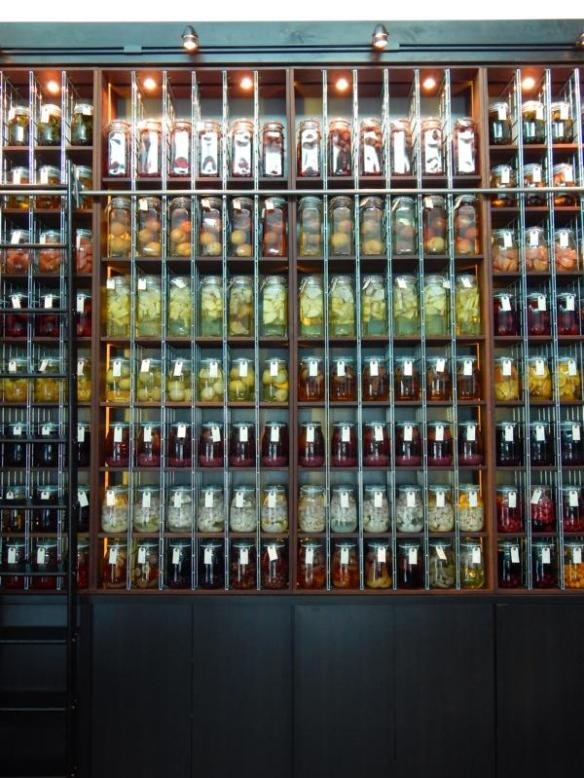 A wall of infusing soju.