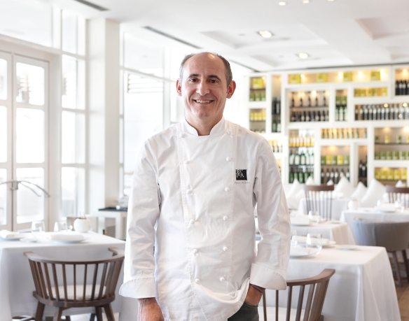 Paco Perez in his Restaurant Miramar. (Photo courtesy four-magazine.com)