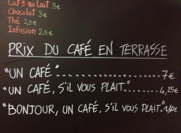 Longing in a Demitasse (un Café, S'il VousPlait)